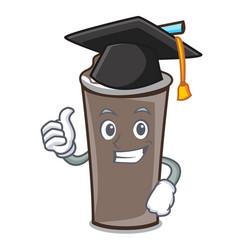 Graduation ice chocolate character cartoon vector