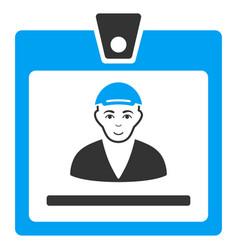guy access card icon vector image