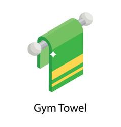 Gym towel vector