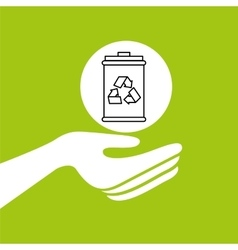 Hands together environment trash recycle concept vector