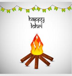 hindu festival lohri vector image