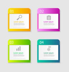infographic elements layout 4 steps vector image