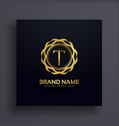Letter t luxury logo concept design vector