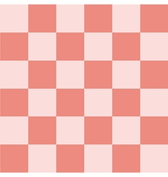 Light Pink Coral Chess Board Background vector image