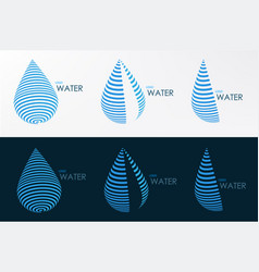 logo water line three style vector image