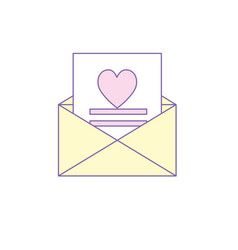 Love card and romantic decoration design vector