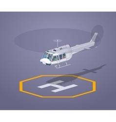 Low poly heli pad vector