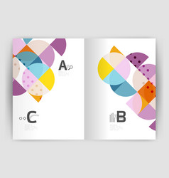 modern geometric annual report cover vector image vector image