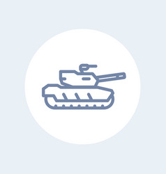 Modern tank line icon isolated on white vector