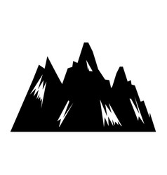 Mountain big isolated icon vector