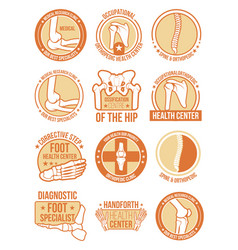 Orthopedic and rheumatology medical clinic icon vector