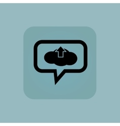 Pale blue cloud upload message vector