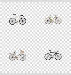Realistic brand cyclocross drive for girl vector