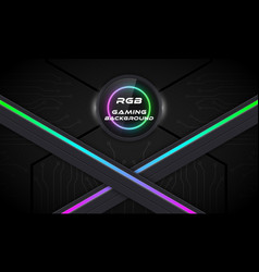 Rgb gaming background vector