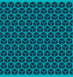seamless green cube pattern vector image
