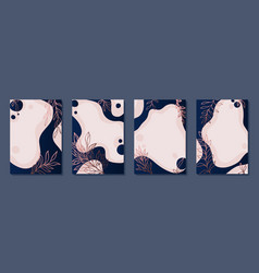 set luxury frame border posters with navy vector image