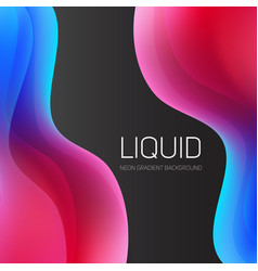 set of liquid shapes gradient abstract vector image