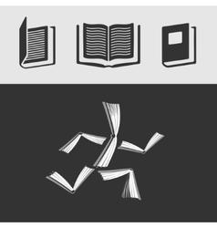 Set of symbols Book vector image