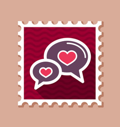 speech bubbles heart stamp happy valentines day vector image