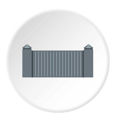 Stone fence icon circle vector