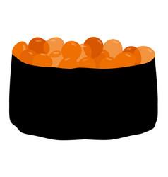sushi tobiko vector image