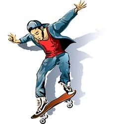 The Skateboarder vector