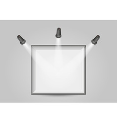 Three lights and silver frame vector