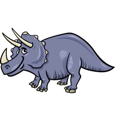 Triceratops dinosaur cartoon vector