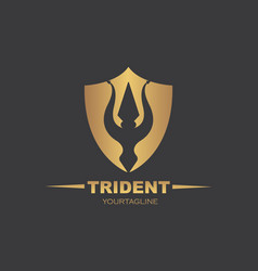 Trident logo template icon vector