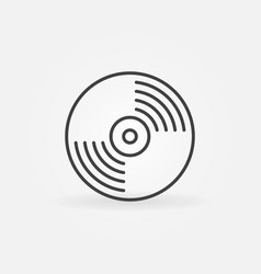 Vinyl record icon in thin line style vector