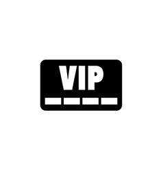 vip member card icon vector image