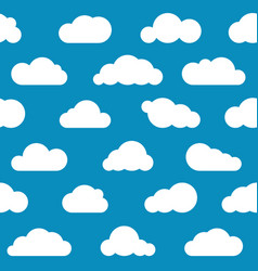 white clouds seamless pattern vector image