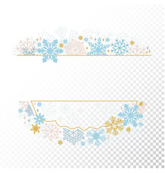 xmas card snowflake frame transparent background vector image