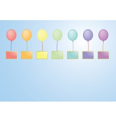 balloons with boards vector image vector image