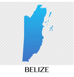 belize map in north america continent design vector image vector image