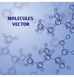 Chemical nanotechnology background with 3d vector image vector image