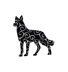 dog pet color silhouette animal vector image vector image