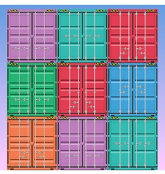 freight containers vector image vector image