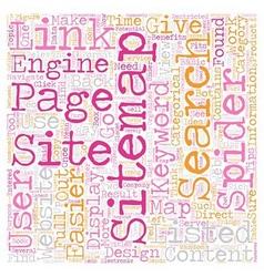 JP sitemap text background wordcloud concept vector image