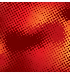 red abstract background with halftone vector image vector image
