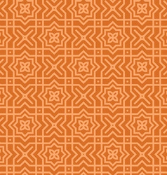 Brown Arabic Pattern vector image vector image