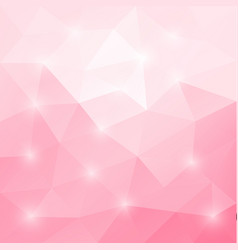 abstract triangular mosaic light pink background vector image vector image