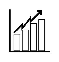 Black icon bar chart vector