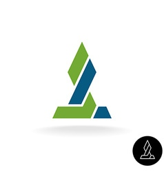 Financial logo concept Force link connection vector image