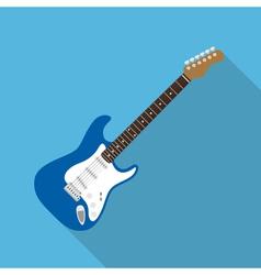 flat guitar vector image