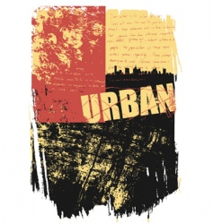 grunge city vector image vector image