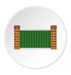 Home fence icon circle vector