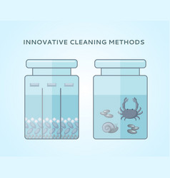 liquid biological cleaning methods concept vector image vector image