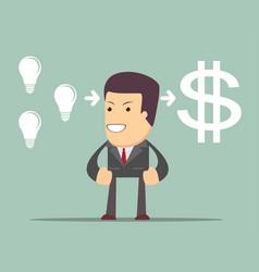 Man making money vector