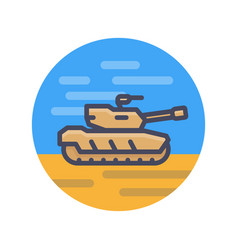 modern tank icon in flat style vector image vector image